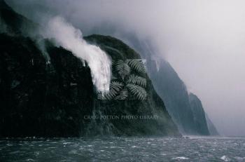 Craig Potton - classic shot of Sutherland Falls, Milford, NZ