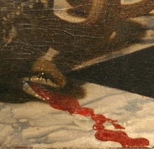 THE ALLEGORY OF FAITH by Johannes Vermeer, detail