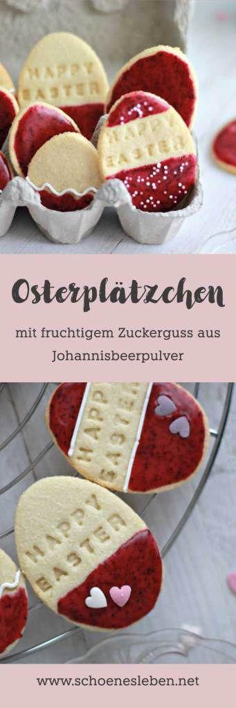 Fruchtige Osterplätzchen Osterschmuck aus Plauener Spitze I www.schoenesleben.net I #osterplätzchen #ostern #osterdelko #spitze #plauenerspitze