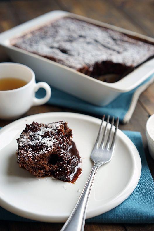 Шоколадный пирог в собственном соку