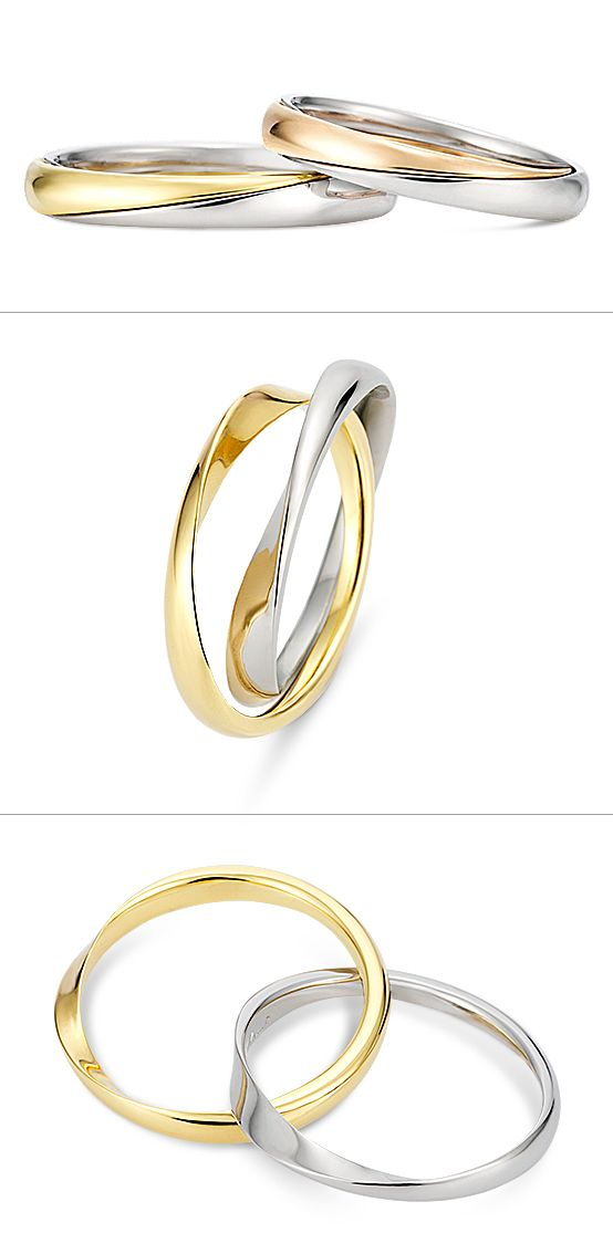 Ring: Gimmel Ring (Two-strand)./ 【リング Gimmel ring-ギメルリング(2連)-】2本の連なったリングを組み合わせると1本になるギメルリング。どんなときもふたりが離れず、永遠につながっている様子を表現しています。/ K.uno is a jewelry brand in Japan. We create bridal and fashion jewelry and apparels from our original to custom made designs. ◆HP→http://www.k-uno.co.jp/ ◆MAIL→k-uno@k-uno.co.jp
