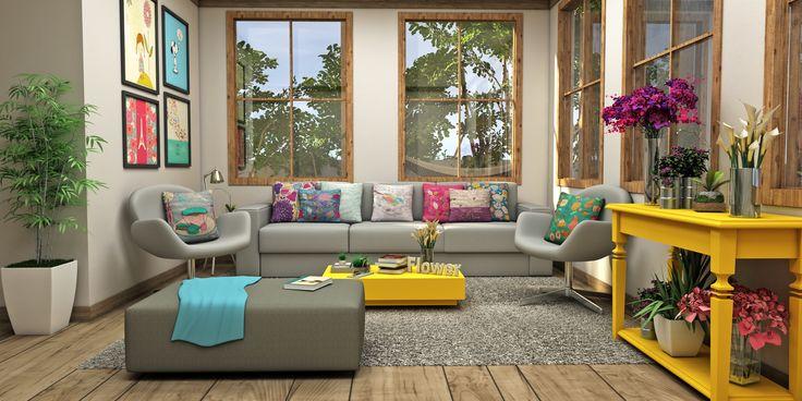 A Primavera já chegou e é tempo de abrir as janelas e deixar o sol entrar. O floral combina com a sala, o quarto e vale até levar no pic nic! http://www.popartdesign.com.br/floral