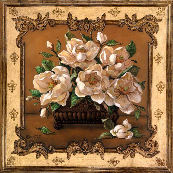 Классическая Магнолия, прекрасная картина расположения Магнолия цветет в квадратной вазе. Цветы настолько большие вазы, которые сидят ...