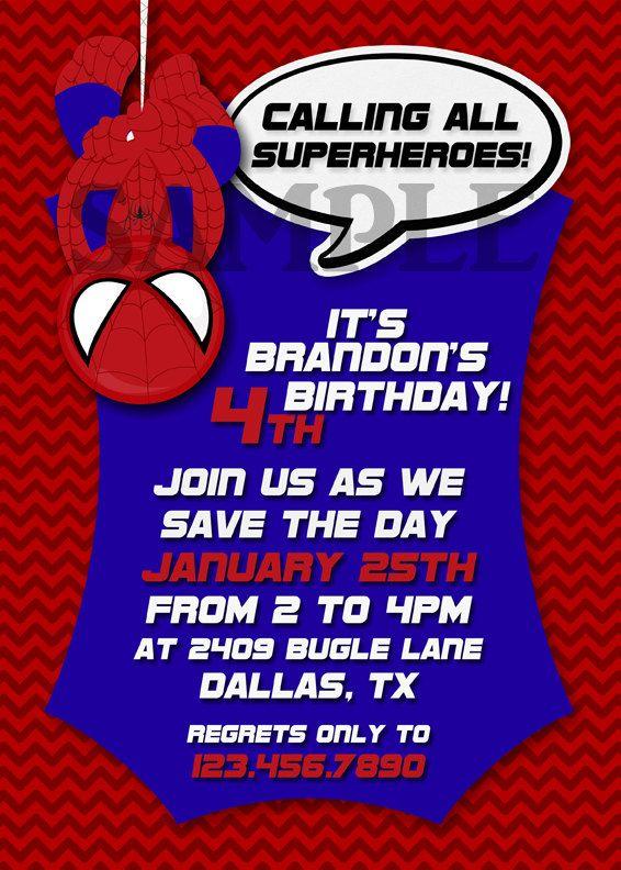 The 25 best Spiderman birthday invitations ideas – Michael Jordan Birthday Invitations