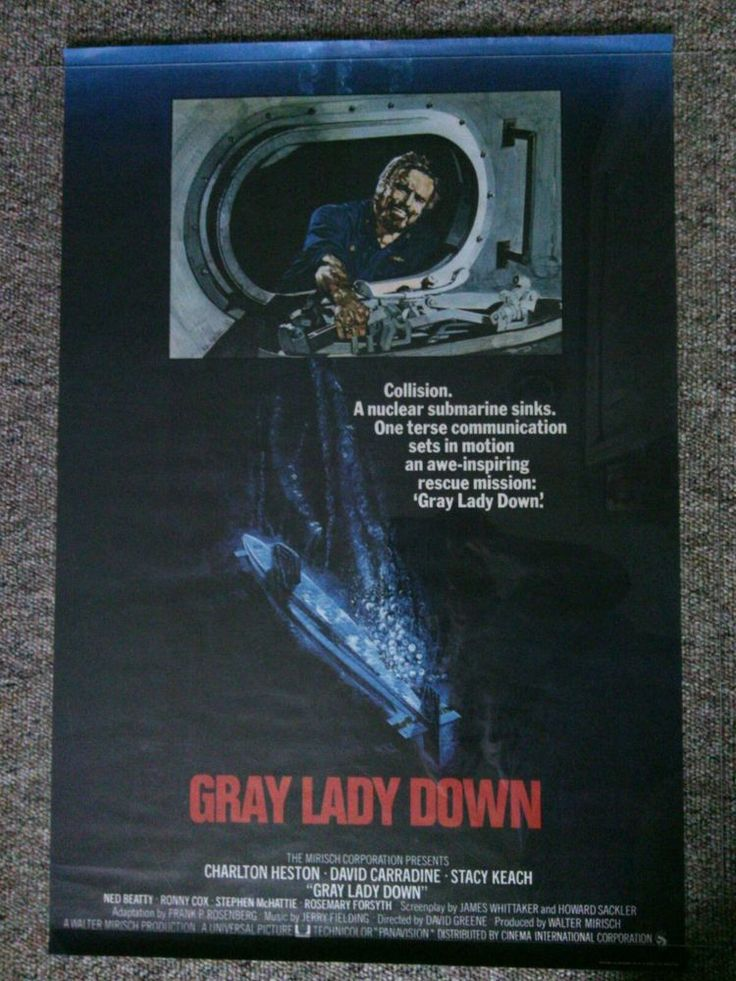 Charlton Heston Gray Lady Down Original Film Movie Poster Theatrical Release Pic | eBay