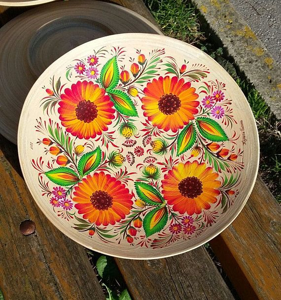 Check out this item in my Etsy shop https://www.etsy.com/uk/listing/556774970/plate-bamboo-hand-painted-ukrainian
