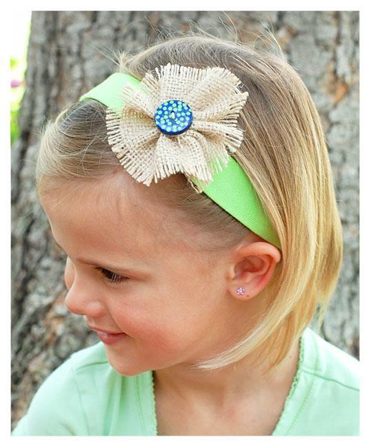 DIY Burlap Crafts : DIY Burlap Rosette Hair Bows