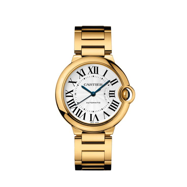 Ballon Bleu Cartier yellow gold watch, 36 mm. Most perfect watch. Alicia Florrick's watch on The Good Wife. Someday I will own this.