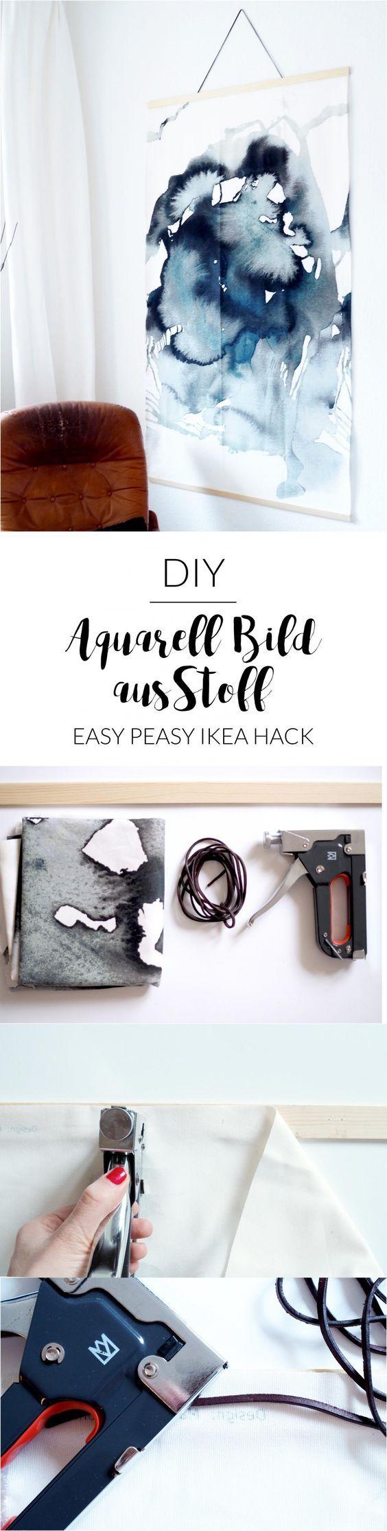 IKEA Hack: DIY-Aquarell-Bild im Großformat | Wall Hanging | selbstgemacht | Wandbild Großformat aus Stoff | | Bild selber machen | Kunst | Aquarell Bild gestalten | Anleitung | Tutorial | Skandinavisch wohnen | skandinavisch einrichten | kreativ wohnen | kreativ einrichten | paulsvera