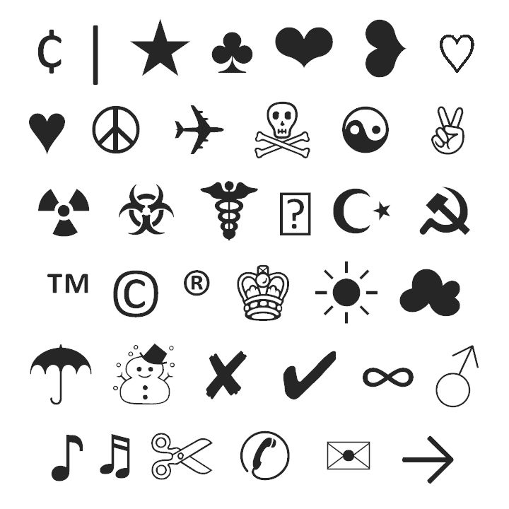82 best Typograph Art/Emoticons/Symbols images on ...Text Art Symbols Copy And Paste