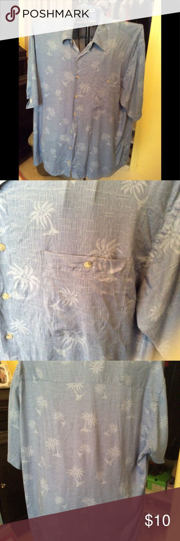 Pierre Cardin button down Pierre Cardin button down shirt with palm trees size XXL Pierre Cardin Shirts Casual Button Down Shirts
