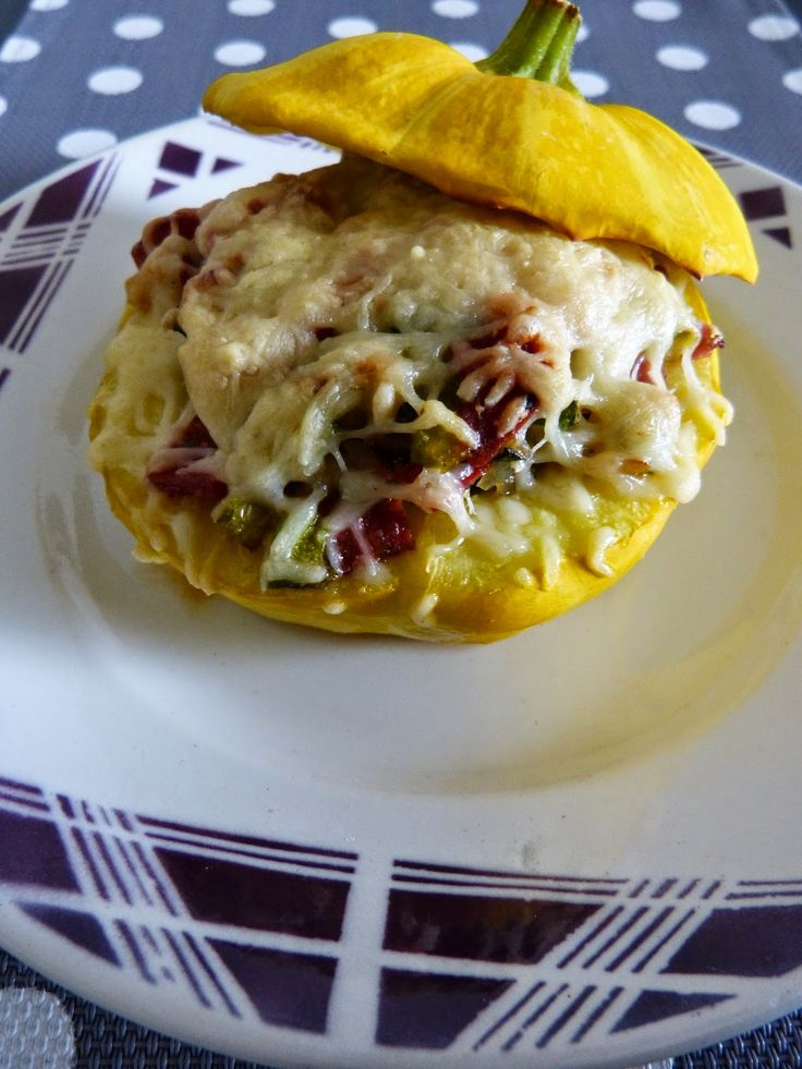 Mamzelle Cuisine: Patisson farçi courgette/chorizo
