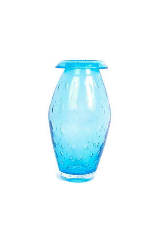Vintage turquoise glass vase idea