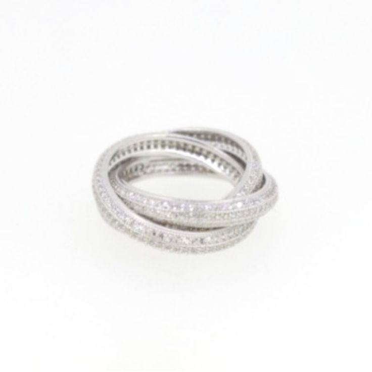 Aliança tipo Cartier💍  Compre no atacado com a Queen Joias por Whatsapp (11) 9.9686-1785💎    #joias #joalheria #finas #Cartier #aliança #luxo#jewelry #glam