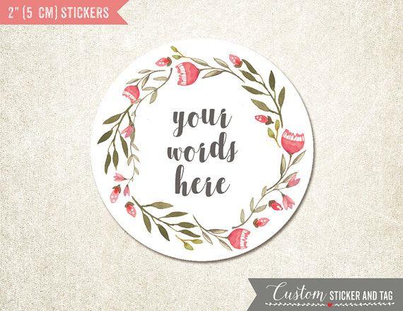 Custom stickers words