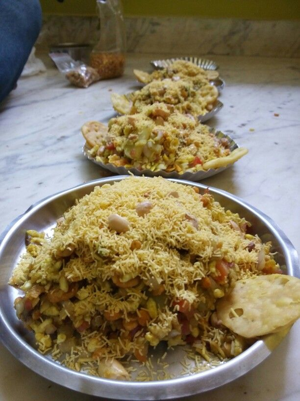Home made Bhel puri.