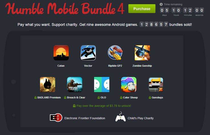 Humble Mobile Bundle 4 - http://mobilephoneadvise.com/humble-mobile-bundle-4