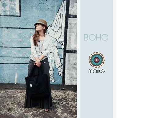 Black boho bag