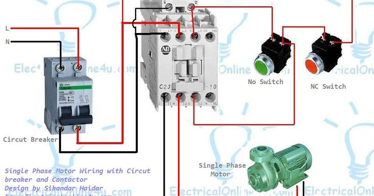 single phase motor wiring with contactor diagram ... 110 volt single pole contactor wiring diagram single pole contactor wiring diagram ac #3