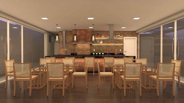 Projeto Unit arquitetos | Perspectiva Espaço Gourmet