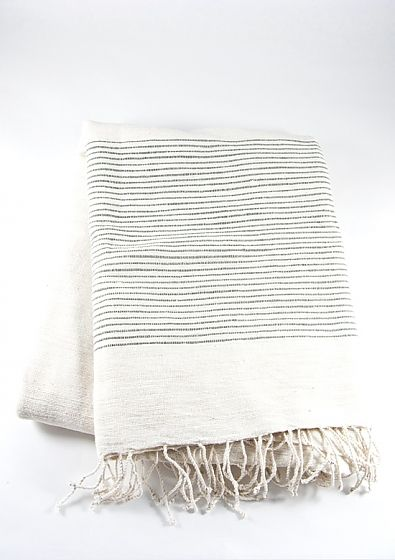 grey ribbed beach towel