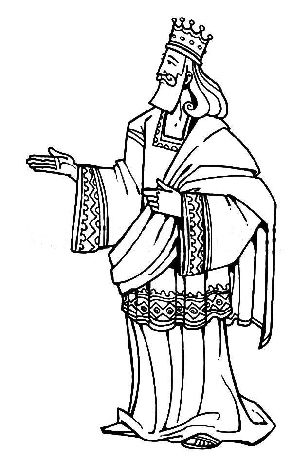 King Solomon Of Israel In The Bible Heroes Coloring Page Sekolah
