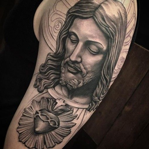 Religiosa Jesús tatuaje chicano
