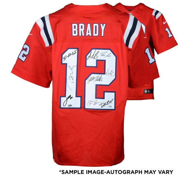 Find this Pin and New England Patriots Fanatics Authentic Super Bowl LI  Champions Autographed Tom Brady Red Nike Elite Jersey ... fce6a006b