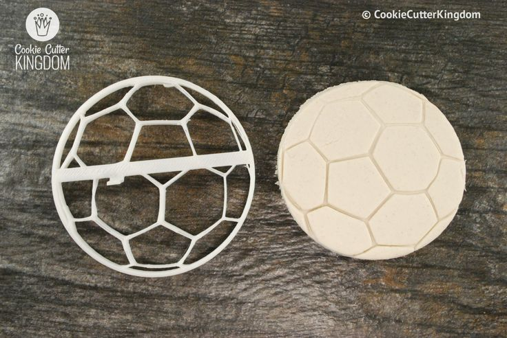 Soccer Ball Cookie Cutter and Stamp Set