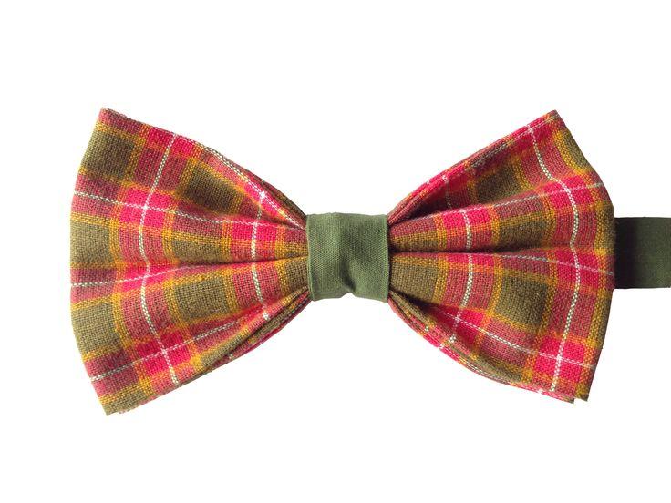 Cotton Plaid Bow Tie