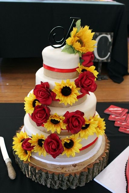 Southern Blue Celebrations: Summer Wedding ~ Sunflowers & Red Roses