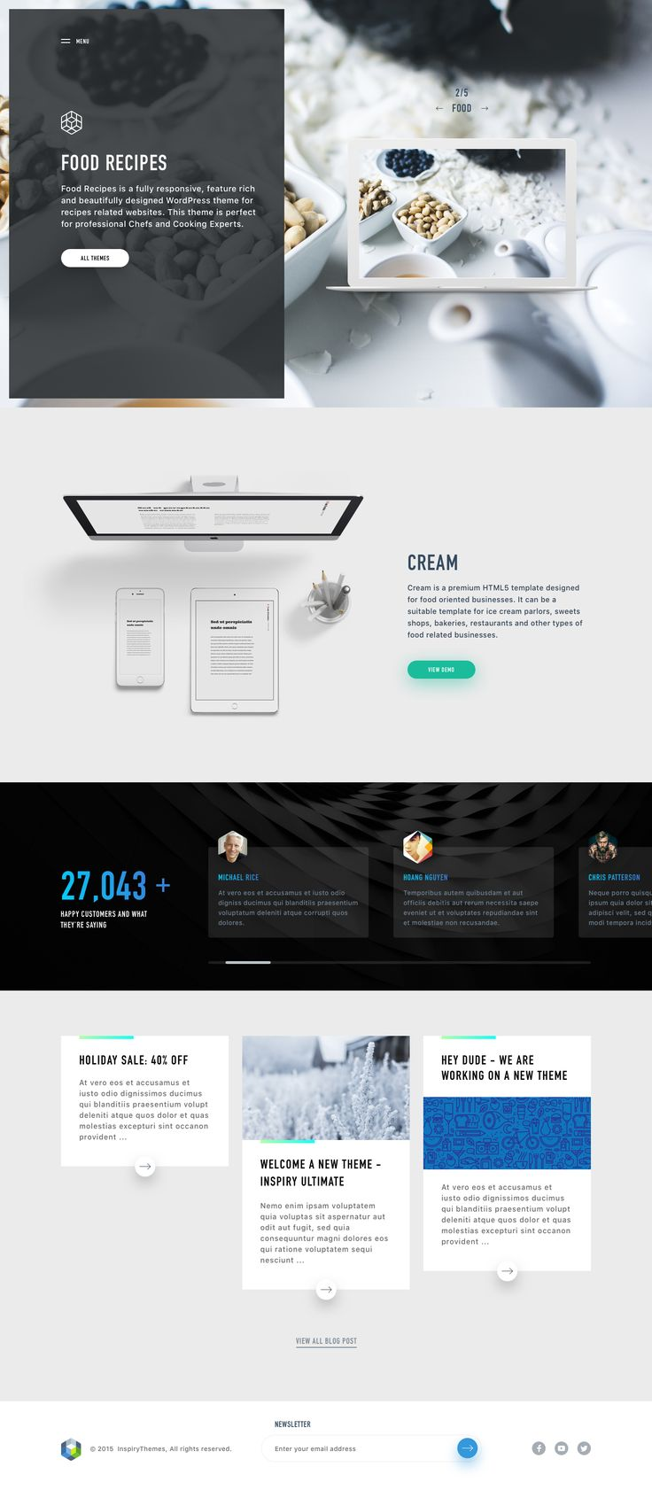 Theme Provider - Food homepage Ui concept redesign by Hoang Nguyen.