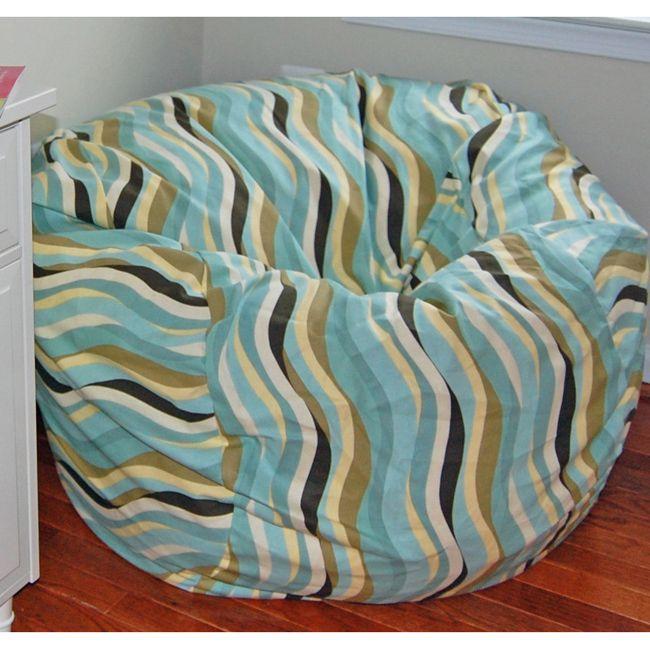 Ahh Products Wavelength Lake (Blue) Cotton Washable Bean Bag Chair  (wavelength Lake)