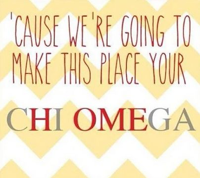 No matter where I go or the fact that I left before I wanted to, Chi Omega will always be home!
