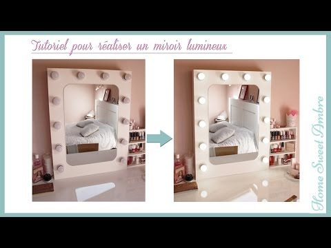 diy miroir lumineux maquillage pro vanity mirror with lights hollywood vanity mirror youtube vanities pinterest mirror with lights