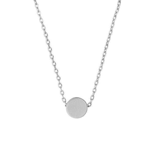 MINNIE GRACE Silver Dot charm necklace | La Luce