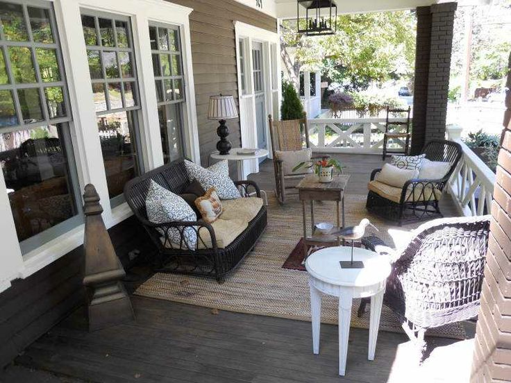 Old Fashioned Swings Covered Patio