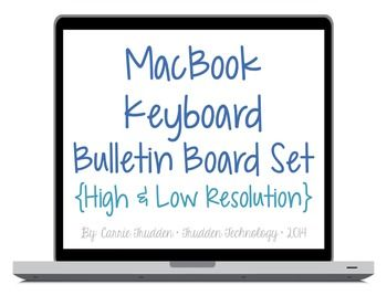 $ Macbook Keyboard Bulletin Board Set {High & Low-Res}