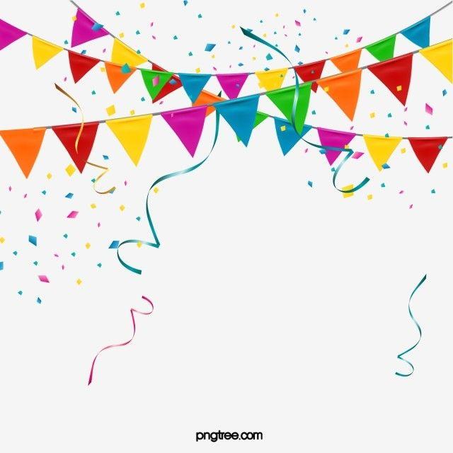 Elementy Flagi Konfetti Raznocvetnye Flagi Vecherinka Klipart Element Klochki Bumagi Png I Vektor Png Dlya Besplatnoj Zagruzki Happy Birthday Banner Printable Free Party Flags Birthday Flags