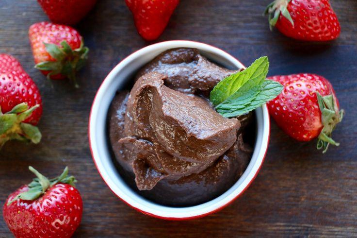 Chocolate pudding (black beans)