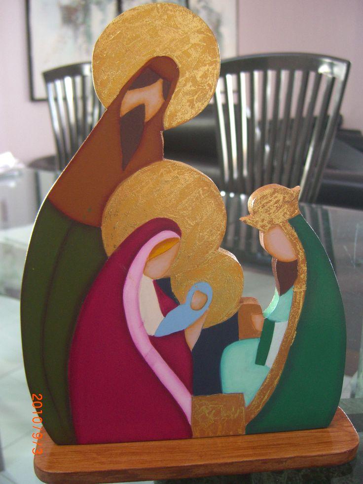 Nacimiento artesanal, hecho en MDF.