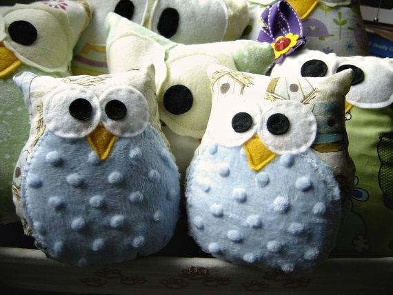 One Tiny Owl Buddy Soft Owl Pillow Softie by unpetitelapin on Etsy, $6.00