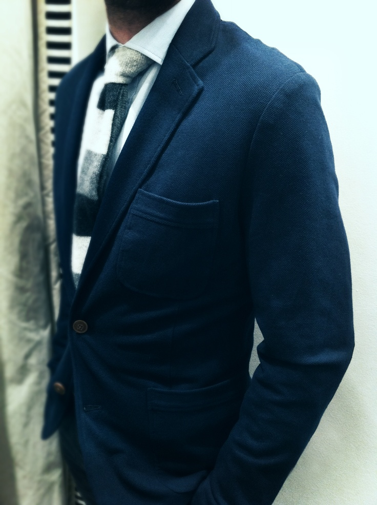 He by mango navy jacket - hackett cashmere tie - cortefiel shirt  Americana marino He by mango - corbata cashmere hackett - camisa cortefiel