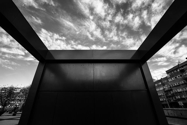 #abstract #sky #building #parking entry in wroclaw
