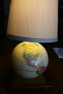 DIY  Globe Turned Lamp tutorial