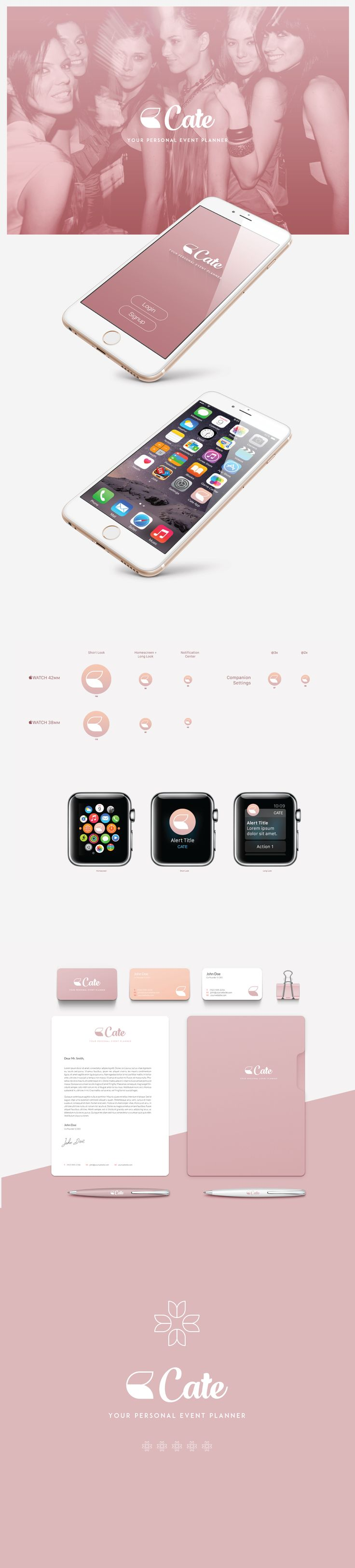Fashion, beauty logo design and app icon.