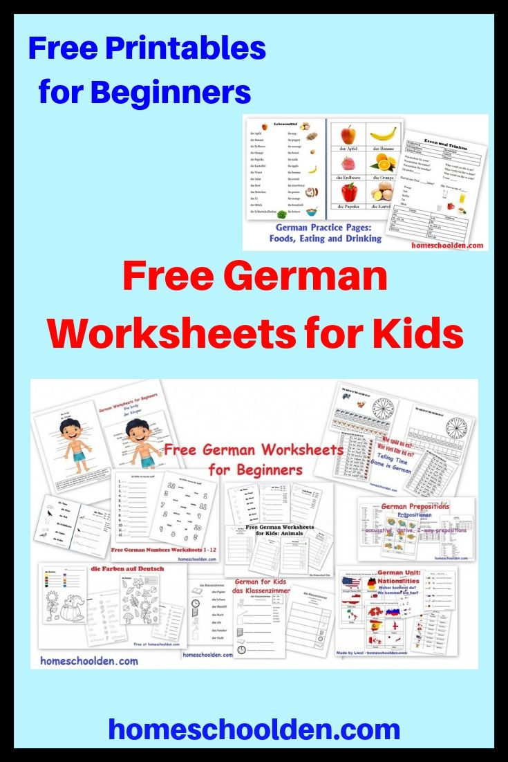 Free German Worksheets for Beginners - This post has a ...