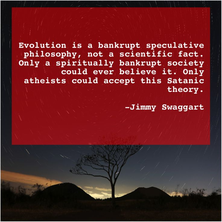 Jimmy swaggart evolution is a bankrupt speculative