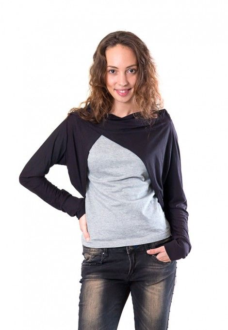 Long sleeve black shrug, dressign.com #black #shrug #sweater #bolero