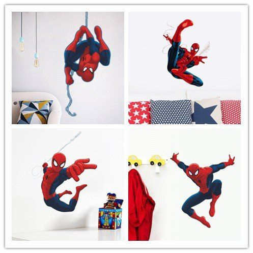 3d Spiderman wall stickers / Spiderman wall decals